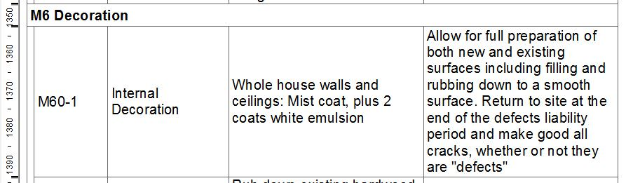 Specification item